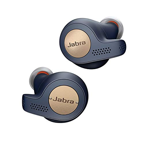 Jabra Elite Active 65t - Auriculares inalámbricos para deporte (Bluetooth 5.0, True Wireless) con Alexa integrada, Azul y Cobre