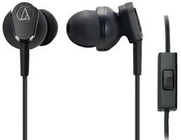 Audio-Technica ATH-ANC33IS - Auriculares in-Ear con micrófono (Control Remoto Integrado), Negro