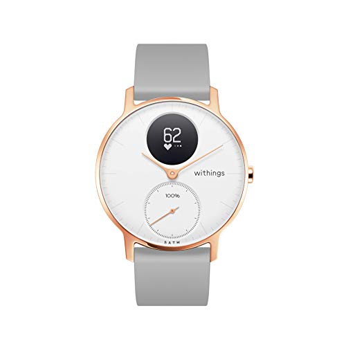 Withings Steel HR Reloj Inteligente, Unisex Adult, Blanco, 36 mm