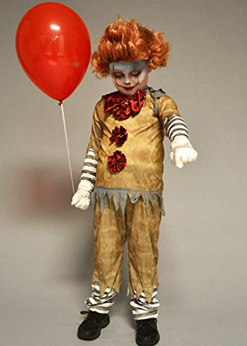 Disfraz de Estilo Payaso para niño New Pennywise It with Wig Medium (7-9 Years)