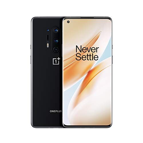 OnePlus 8 Pro Black Onyx Phone |  6.78 'Fluid AMOLED 3D Screen at 120Hz |  8GB of RAM + 128GB of Storage |  Quad Camera |  Wireless Fast Charge |  Dual Sim |  5G |  2 years warranty