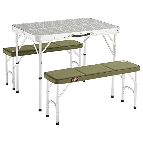 Coleman 205584 Mesa de Camping, Campingtisch Pack-Away(TM) Table for 4, Blanco