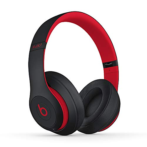 Beats Studio3 Wireless con cancelación de ruido - Auriculares supraaurales - Chip Apple W1, Bluetooth de Clase 1, 22 horas de sonido ininterrumpido - Rojo (Defiant Black-Red)