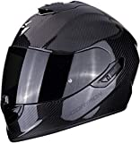 Scorpion 2476-25849 Casco para moto Exo 1400 Air Carbon Solid, negro, M