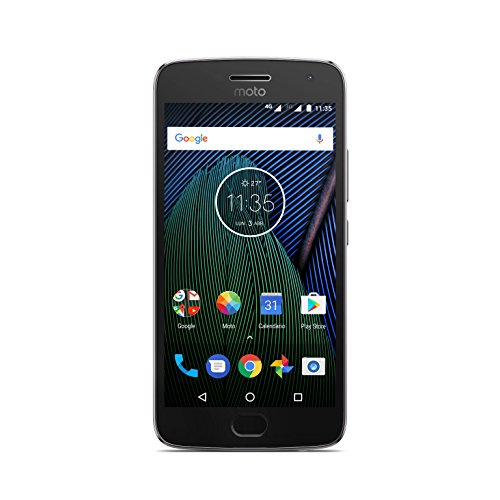 Moto G 5ª Generación Plus - Smartphone libre Android 7 (pantalla de 5.2'' Full HD, 4 G, cámara de 12 MP Dual Pixel, 3 GB de RAM, 32 GB, Qualcomm Snapdragon 2.0 GHz), color gris - [Exclusivo Amazon]