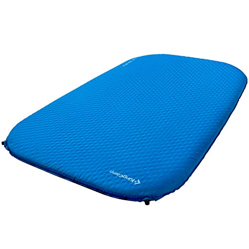 KingCamp Deluxe Doble Espuma autoinflable Mat 7.5CM (Gris Claro)