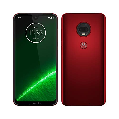 Motorola Moto G7 Plus - Android 9 Smartphone, 6.2 '' FHD + Max Vision Screen, 16MP Rear Camera with Stabilizer, 12MP Selfie Camera, 4GB RAM, 64GB, Dual SIM, Spanish Version, Red