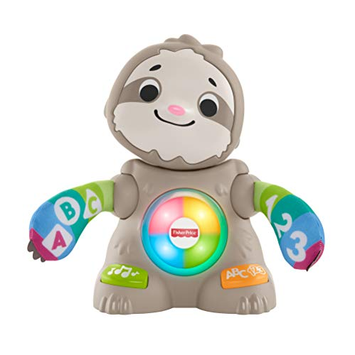 Fisher-Price GHR18 Linkimals Smooth Moves Sloth, Juguete para bebé con música y Luces, Multicolor