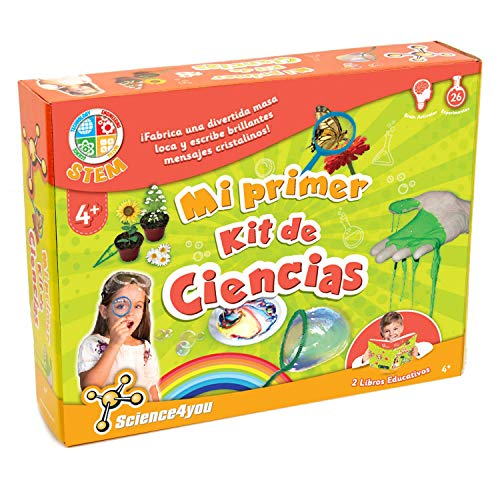 Science4You-Mi Primer Kit de Ciencias-Juguete Cientifico para Niños +4 Años KDE, Color multocolor, única (600270)