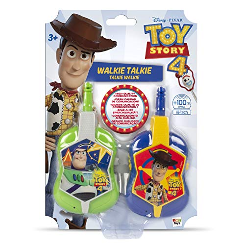 IMC Toys- Walkie Talkie Toy Story 4 con la Cara de Buzz y Buddy, Multicolor (141100)