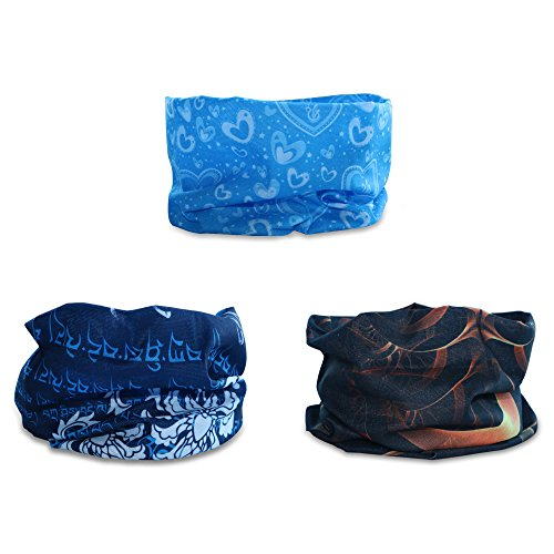 Bandana Braga Cintas Deportivas para el Pelo - Datechip Multifuncional Headwear 12-In-1 Magic Bufanda Diadema UV Escudo Bufanda [Paisley] Muñequera, Pasamontañas Headwrap, Bufandas, Casco Liner