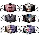 Set 6 Halloween Face Covering Adults Washable Reusable Bacteriostatic Fabric