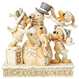 Disney Traditions, Figura de Mickey, Minnie y Donald con muñeco de nieve, Enesco