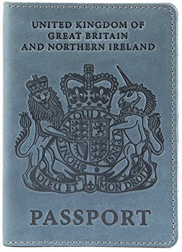 Shvigel - Funda de pasaporte  azul Light Blue Vintage