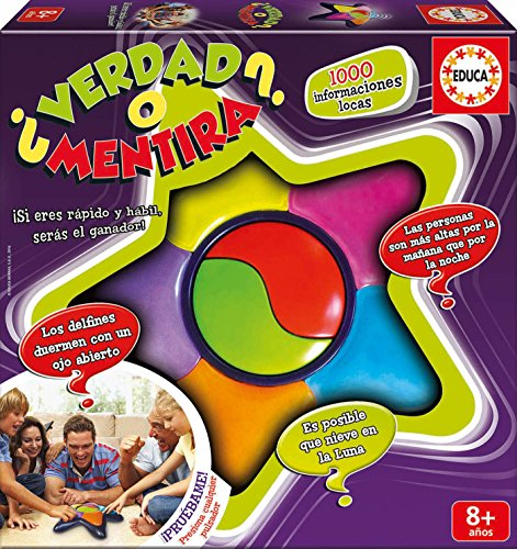 Educa Borrás - ¿Verdad O Mentira?, Multicolor (Educa Borrás 16989)